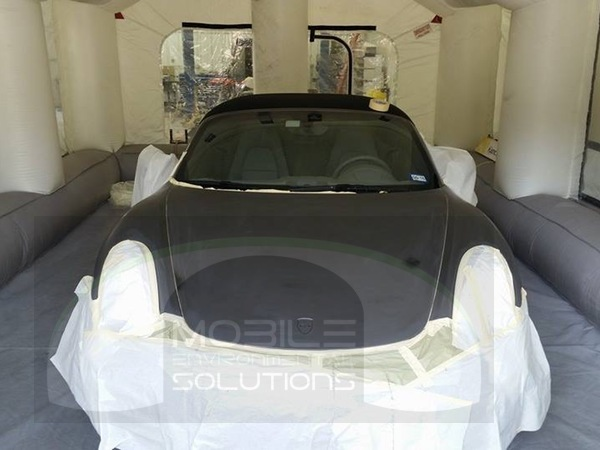 Portable Spray Booth with car