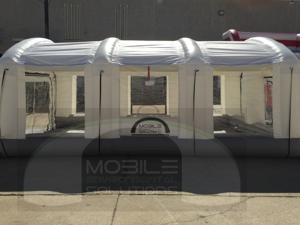 Portable Spray Paint Booth side view