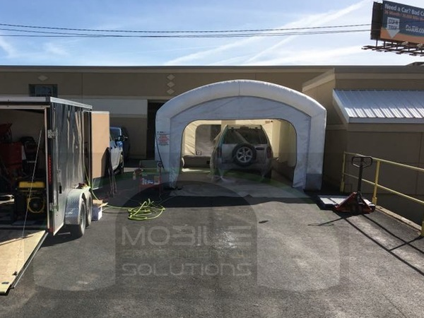 portable car paint booth with jeep